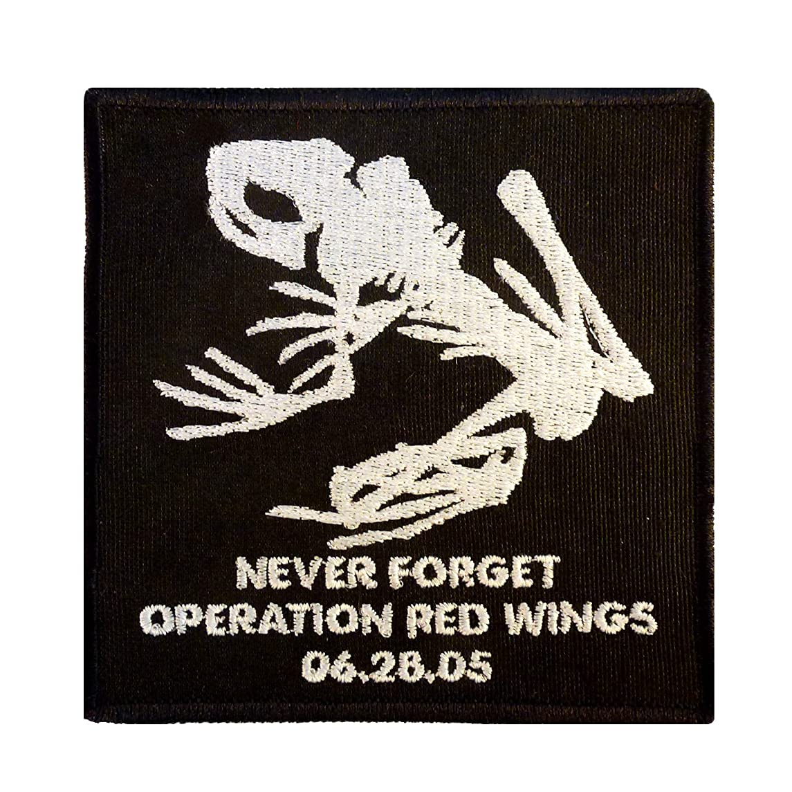 LEGEEON Operation Red Wings Never Forget Lone Survivor SDVT-1A Skull Frog Navy Seals Touch Fastener Patch