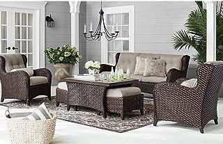 Member's Mark Agio Heritage 6-Piece Deep Seating Patio Set with Sunbrella Fabric - Shale