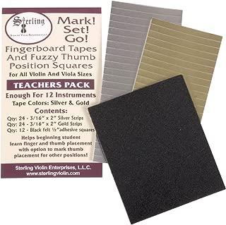 Mark! Set! Go! Instrument Fingerboard Tape: Teacher Pack