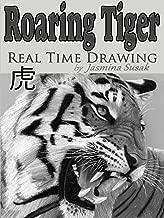 Roaring Tiger Real Time Drawing by Jasmina Susak