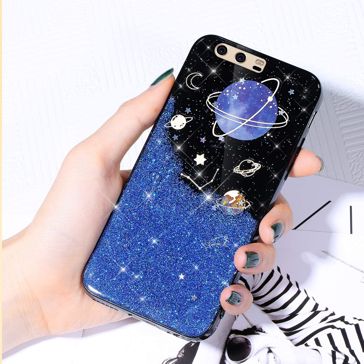 Case for Huawei P10 Plus Shiny Super Large special price !! intense SALE Cover Sparkle Starry Glitter