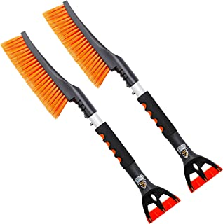 "24"" Snow Brush with Ice Scraper 2 Pack – Comfortable Foam..."