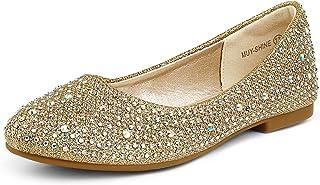 کفش های زنانه DREAM MUY لباس های دخترانه کفش های لغزش در Ballerina Flats (کودک نو پا / بچه کوچک / بچه بزرگ)