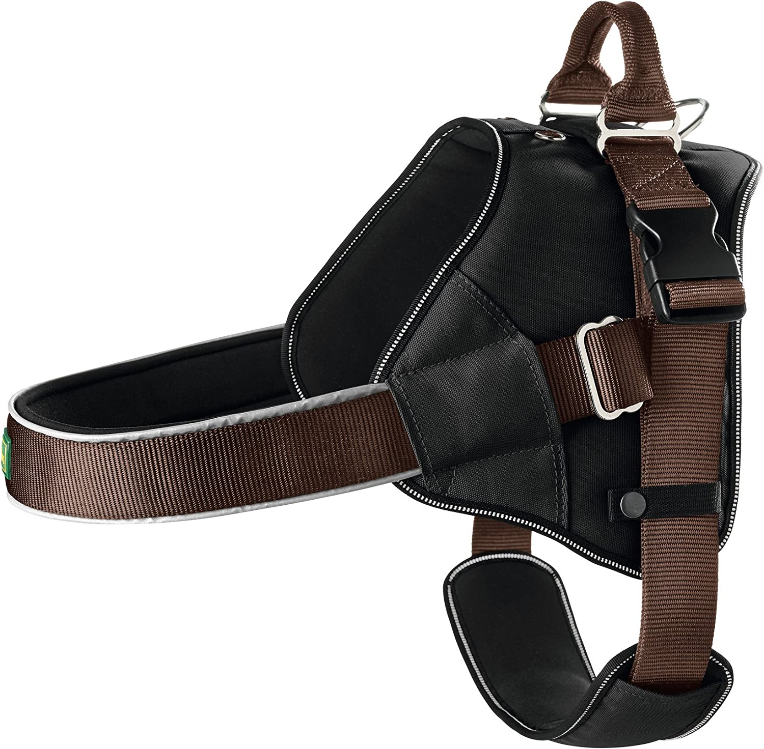 HUNTER Neopren Expert Nylon Harness, 55 x 80 cm, 25 mm, Small, Black Brown