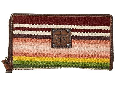 STS Ranchwear Buffalo Girl Serape Bifold Wallet (Maroon/Pink/Green) Bags