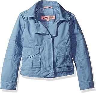 Urban Republic Girls' Cotton Twill Moto Jacket