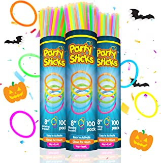 Party Sticks Glow Sticks Jewelry Bulk Party Favors 300pk and Connectors - 8