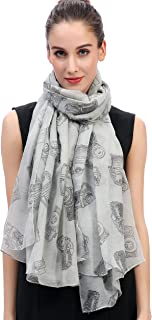 Lina & Lily Vintage Cameras Print Women's Large Scarf Lightweight