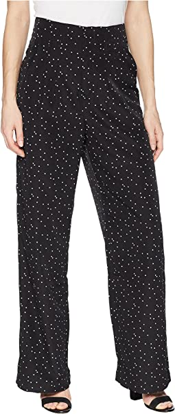 Polka Dot Print Wide Pants