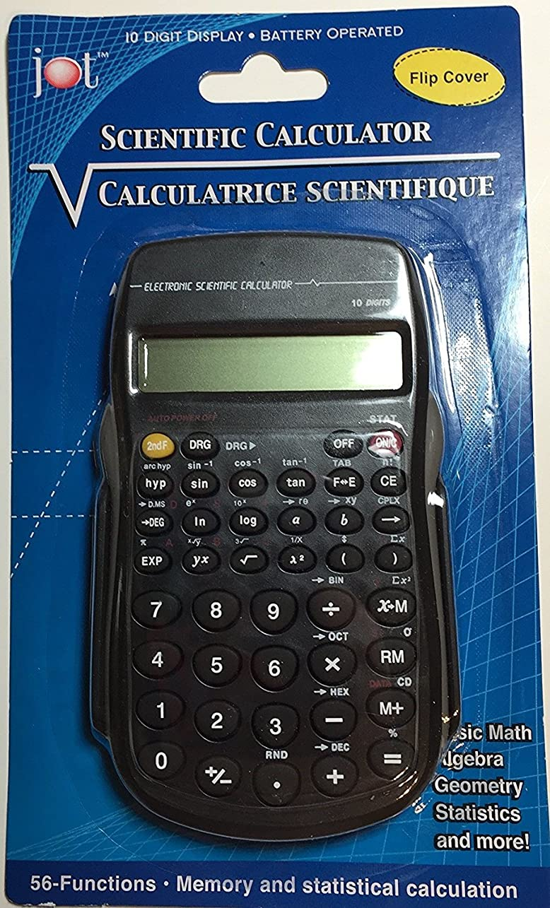 小売測るアトムJot Scientific Calculator withフリップカバーバンドルwith BIC cover-it Correction Fluid