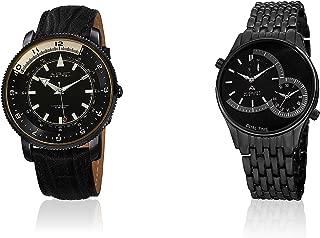 August Steiner Men's AS8199BK Quartz Movement Watches (Set of Two)