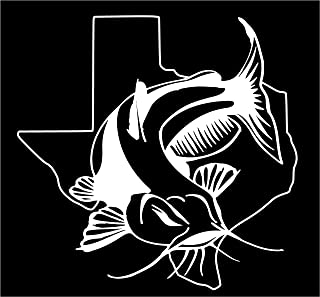 Texas Channel Blue Flathead Catfish Fishing state window sticker decal (5