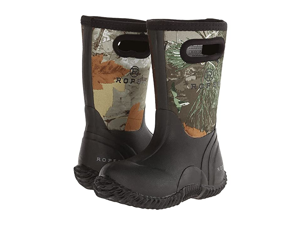Roper Kids Neoprene Camo Barn Boot (Toddler/Little Kid) (Mossy Oak) Kids Shoes