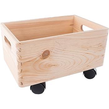 Search Box Pequeño de Madera apilables Caja de Almacenamiento con ...