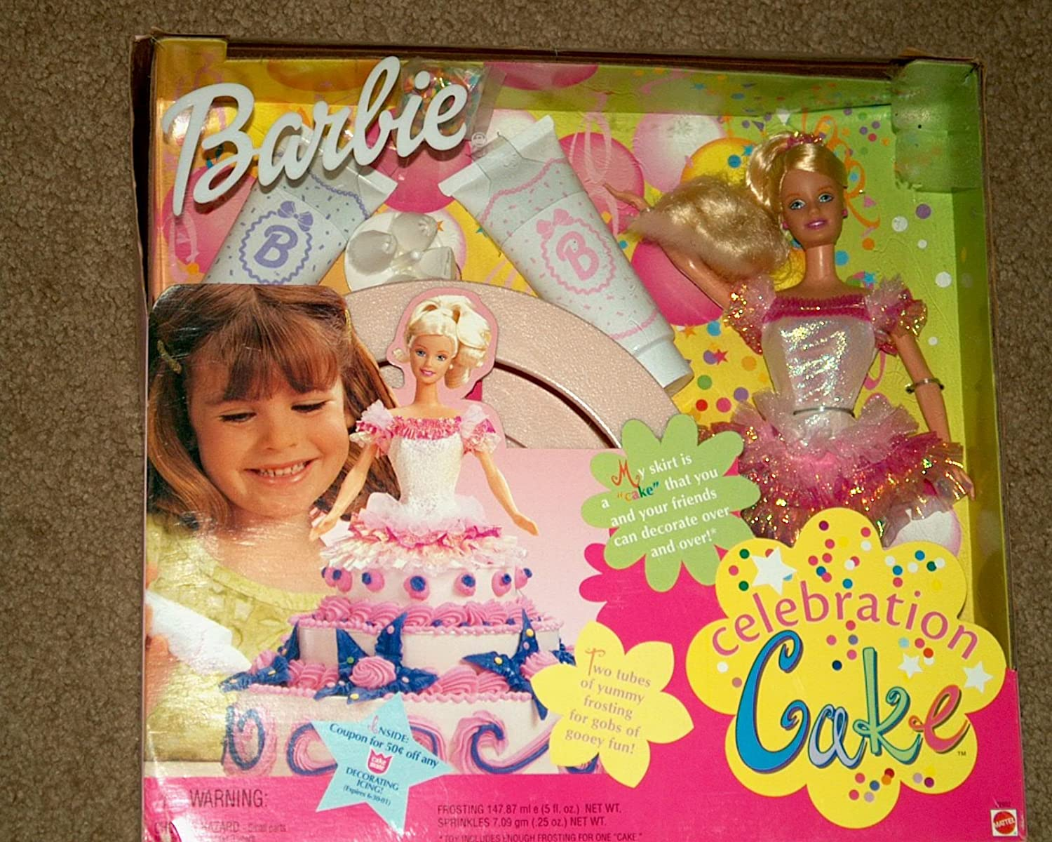 Barbie Max 76% OFF New Free Shipping Celebration Cake Doll 1999