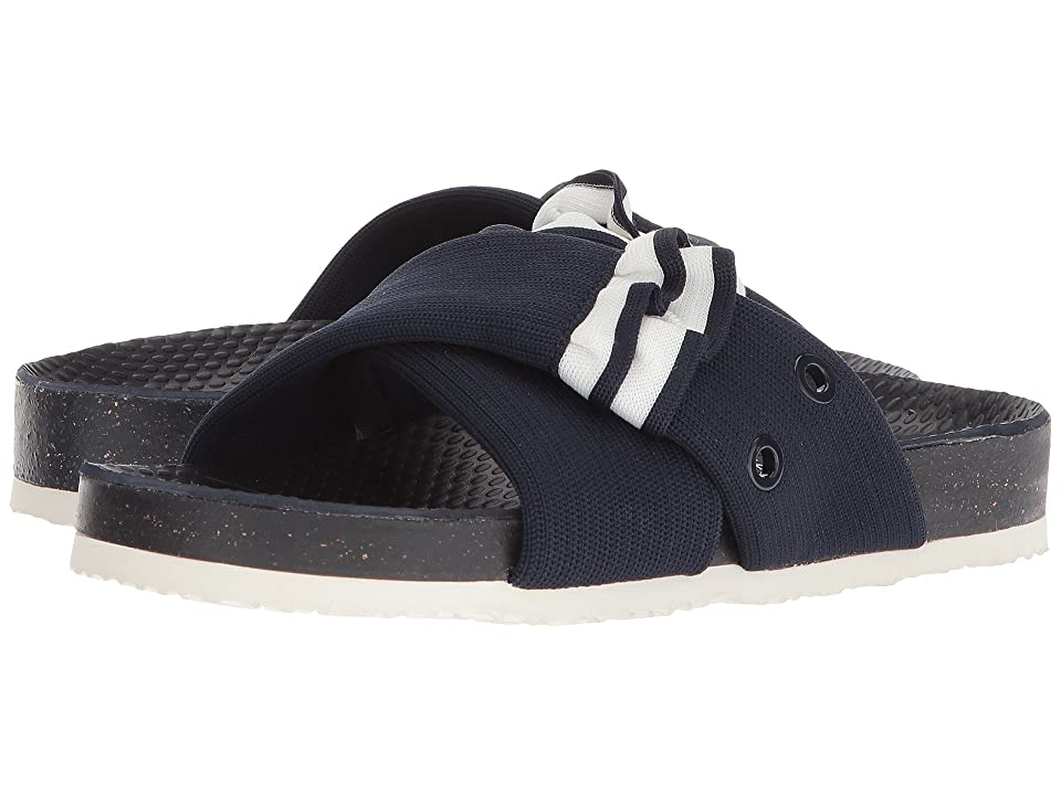 Tory Sport Ruffle Slide (Bright Navy/Snow White) Women