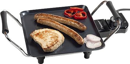 Bestron Elektrische Plancha-/Teppanyaki-grillplaat met antiaanbaklaag, 1000 W, zwart