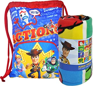 Disney / Northwest Toy Story Fleece Throw Blanket & Sling Tote Bag - 2 pc Set