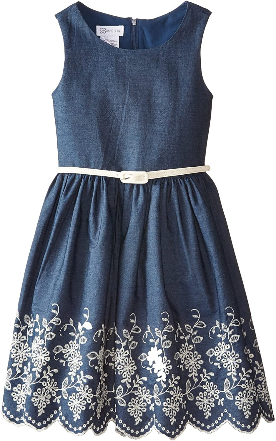 Indianapolis Mall Bonnie Jean sold out Girls' Chambray with Embroidered Hem Dress