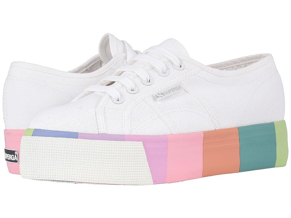 Superga 2790 Cotmultifoxing W Platform Sneaker (White Canvas) Women