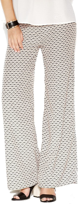 Bar III Apricot Womens Printed WideLeg Stretch Pants