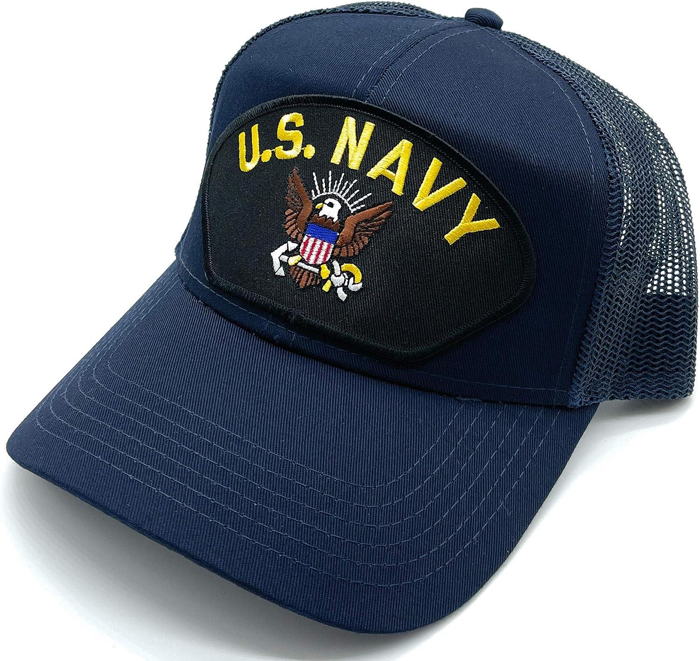 Infinite Hats US Navy Patch Mesh Adjustable Baseball Cap