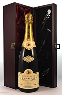 Jeanmaire Blanc de Blancs Grand Cru Vintage Champagne 1985 in a silk lined wooden box with four wine accessories, 1 x 750ml