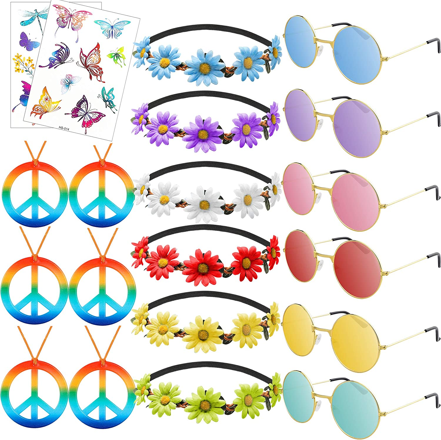 R HORSE 20 Pcs Hippie Accessories Costume Vin Limited time for free shipping Set Raleigh Mall