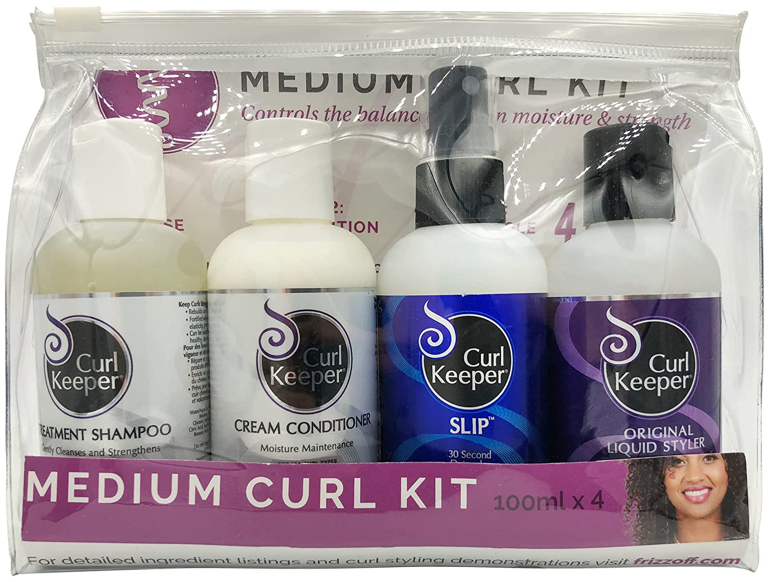 CURLY HAIR Manufacturer regenerated product Long Beach Mall SOLUTIONS - Medium Curl Oz Starter 3.4 Kit