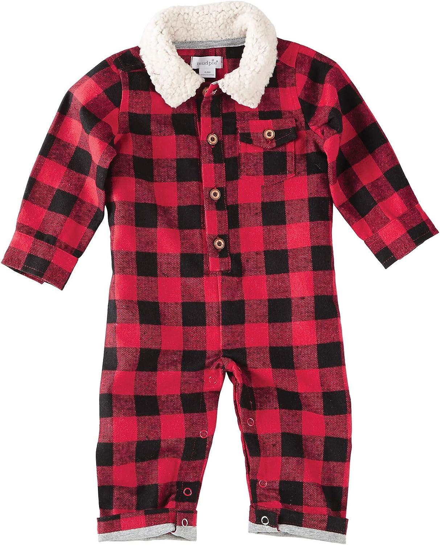 9-12 months Mud Pie Baby Red Velour Bodysuit with Plaid Necktie Baby Boy Warm Outfit Mud Pie Baby Boy Holiday Onesie Red Onesie 0-6 months
