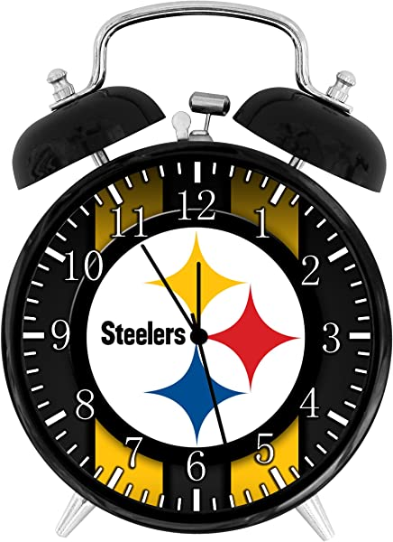 Steelers Twin Bells Alarm Desk Clock 4 Home Office Decor F31 Nice For Gifts