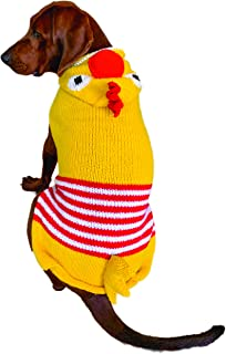 سترة بغطاء رأس على شكل دجاجة مقاس X-Large باللون الأصفر من تشيلي دوج