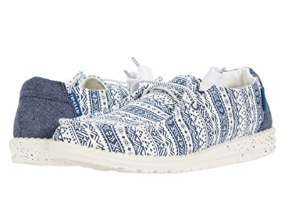 Hey Dude Wendy Print (Blue Aztec) Women