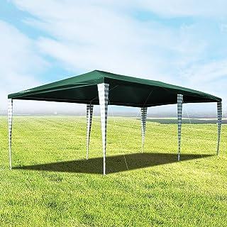 wolketon Hochwertiger Pavillon 3x6m ohne Seitenteilein Grün Partyzelt Gartenpavillon für Garten Terrasse Feier Markt als Unterstand Plane Dach