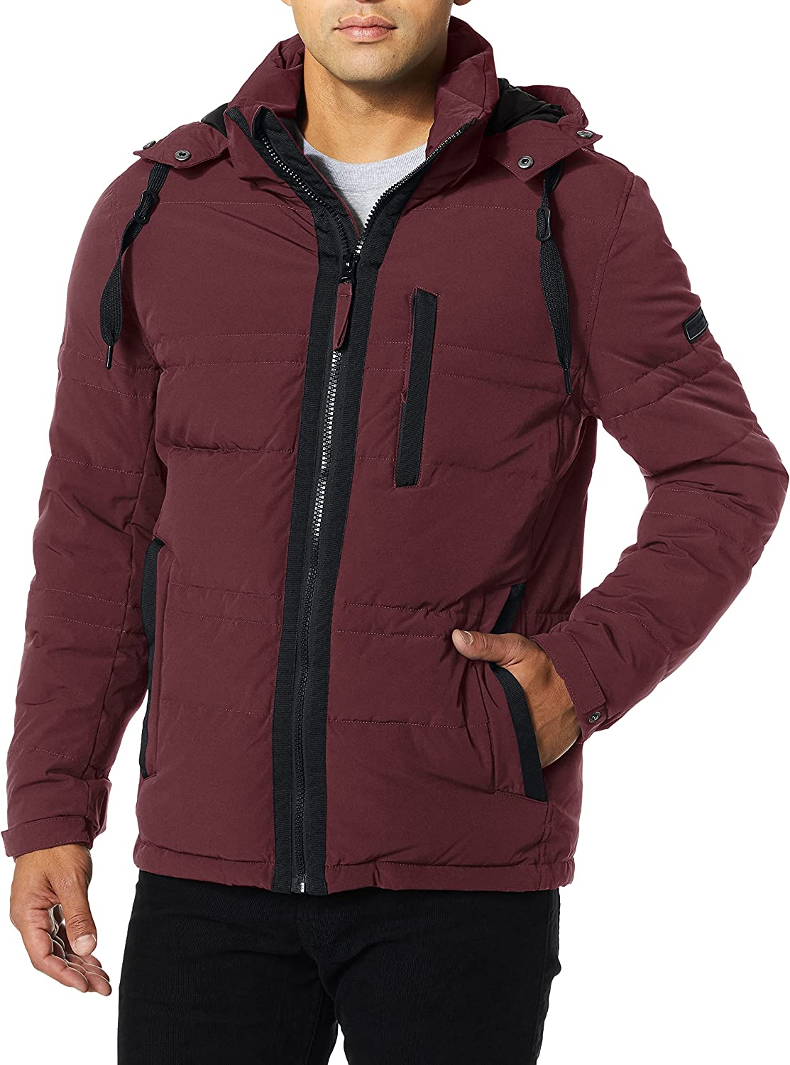 Marc New York by Andrew Marc Men's Huxley Mid Length Hooded Jacket