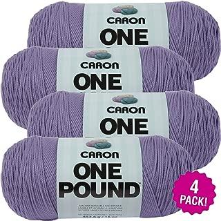Caron 99597 One Pound Yarn-Lavender Blue, Multipack of 4, Lavndr Blu 4 Pack