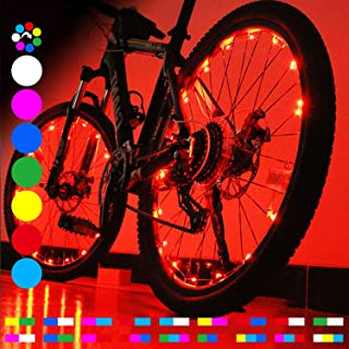 OUTDRSY [RGB] Bicycle Wheel Lights for Riding Bike at Night, Waterproof Wheelchair Accessories LED Lights for Wheel with Bright 20 LEDs, A Thrilling Gift for Teens Boys