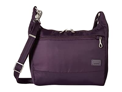 Pacsafe Citysafe CS100 Anti-Theft Travel Handbag (Mulberry) Handbags