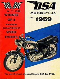 B.S.A. MOTORCYCLES for 1959: You get the best of everything in B.S.A. for 1959 (English Edition)