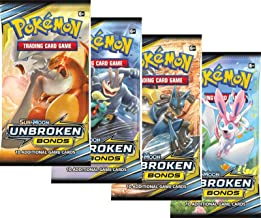 Pokemon – Sun and Moon Unbroken Bonds Booster Packs – Lot of 4