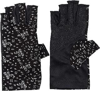 Womens Sunblock Fingerless Gloves Summer UV Protection Driving Cotton Gloves