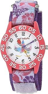 Red Balloon Girls Analog Quartz Watch with Nylon Strap, Purple, 16 (Model: WRB000138)