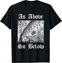As Above So Below Alchemy T-Shirt Occult Design