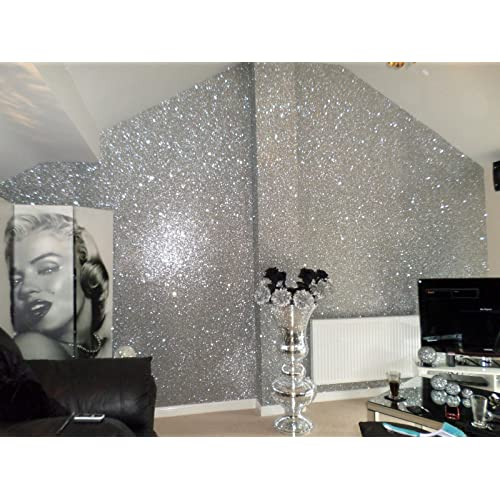 . Glitter Wallpaper for Living Room  Amazon co uk