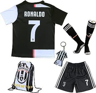 GamesDur 2019/2020 Cristiano Ronaldo #7 Home Football Soccer Kids Jersey & Short & Sock & Soccer Bag Youth Sizes