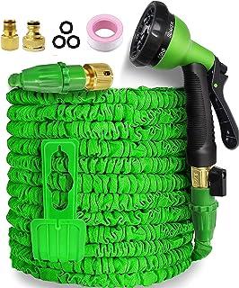 Garden Hose,Hose Pipe Expandable Hose 50FT Heavy Duty Flexible Leakproof Hose High-Pressure Water Spray Nozzle & Bag & Pla...