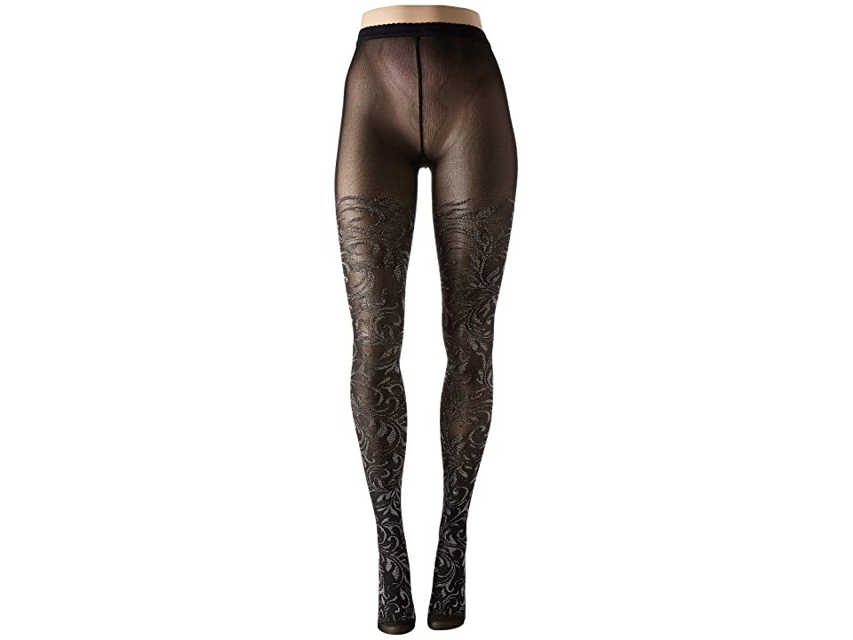 Wolford Ada Tights (Black/Silver Metallic) Hose