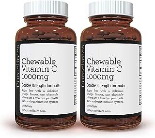 Vitamina C Masticable Doble Potencia 1000 mg x 240 comprimidos (2 frascos