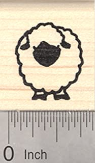 Valais Blacknose Sheep Rubber Stamp, Small