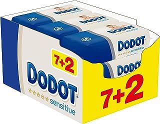 comprar comparacion Dodot Sensitive Toallitas para Bebé, 9 paquetes de 54 unidades, 486 toallitas
